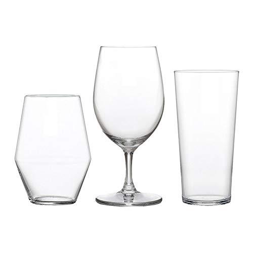WNTHBJ Bier mok driedelige set, houten doos verpakking glas, huishoudelijke biermok, theekop, hittebestendige theekop