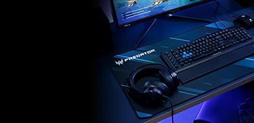 Predator Gaming Mauspad XXL (Reibungsarme Faseroberfläche, selbstleuchtendes Predator Logo, Unterseite aus Naturkautschuk, leicht zu reinigen)