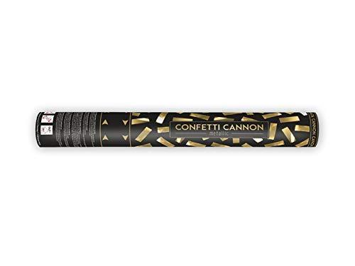 Partydeco tukm40 – 019-karton – Tube Lance confettis Doré métallisé