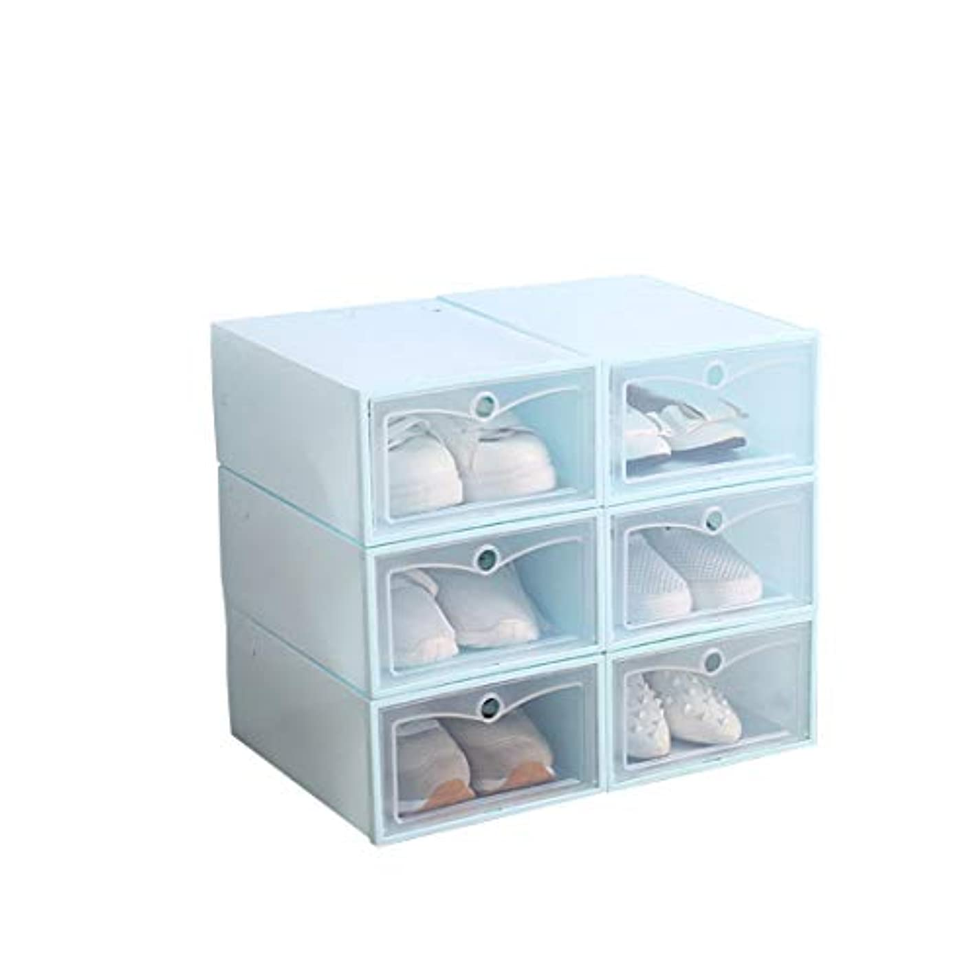 Shoes Organizer Shoe Box Storage Containers Foldable Clear Male Dust-Free Shoe Storage Box Pack of 6