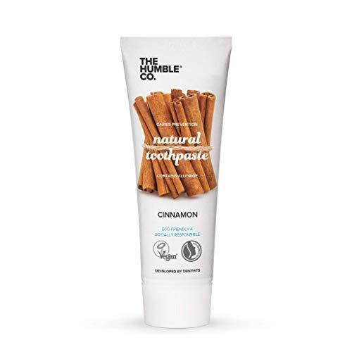 The Humble Co. Natürlich Zahnpasta mit Fluorid (1 x75ml) | Zimt | Umweltfreundlich, Vegan, Zuckerfrei, von Zahnärzten empfohlen - Verhindert Mundgeruch, Karies, Plaque