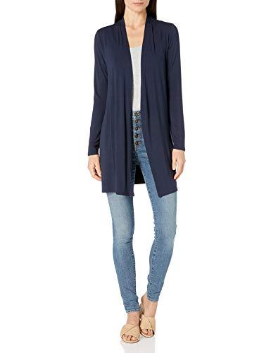 Amazon Essentials Long-Sleeve Open-Front Cardigan Sweater, Marineblau, S