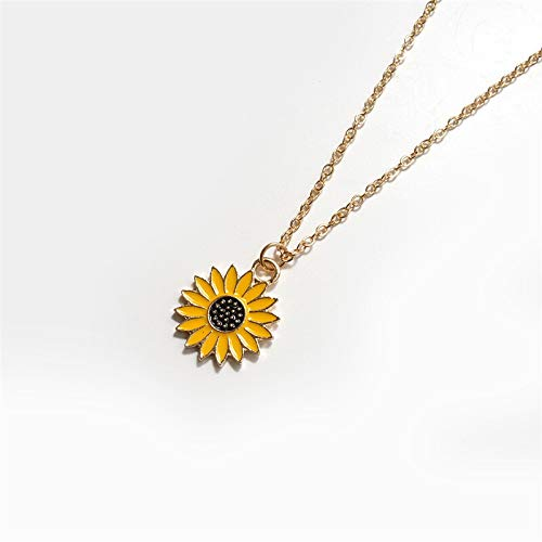 Makluce Inspirational Necklace, Sunflower Pendant Necklace For Women Pendant Necklace Jewelry Gifts For Girls Mothers Birthday Christmas (Metal Color : 20226)