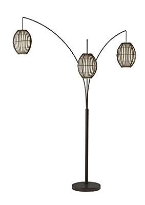 Adesso 4026-26 Maui Arc Lamp ? 82-inch 3-Light Floor Lamp ? Antique Bronze Finish Standing Lamp. Home Decor Lighting Fixtures