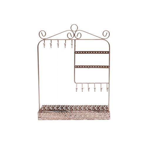 LXX Cajas de joyería minimalistas geométricas de hierro forjado, organizador de adornos de almacenamiento de joyas Soporte de exhibición para pendientes/anillos/pulseras cofres de joyería