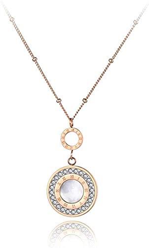 ZPPYMXGZ Co.,ltd Collar de Moda Collares Pendientes de Cristal con números Romanos para Mujer