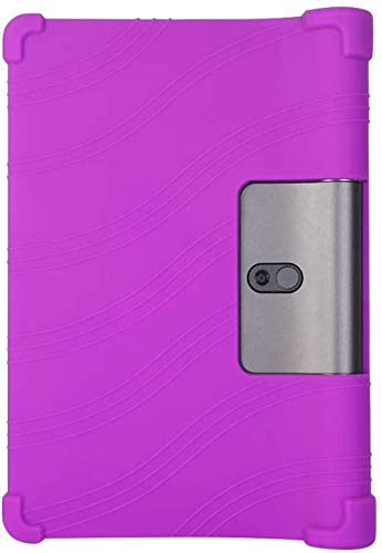 Migogo Case for Lenovo Yoga 5 - Silicone Protective Shockproof Removable Stand Rubber Tablet Sleeve for Lenovo YT-X705F/M 10.1 Inch