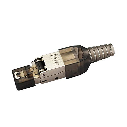 LiuliuBull Z 5pcs Cat.6A RJ45 Adaptador 10GBPS BLIENDED RJ45 Conector de Crimp Free Crimp Cat.6a Ethernet