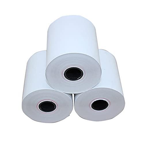 20 Rollos 1/2 Pulgadas 13 mm núcleo Interno Papel térmico Papel de Caja registradora POS Rollo de Papel de recibo 69 pies 21 m de Longitud 0,22 Pulgadas 57 mm de Ancho
