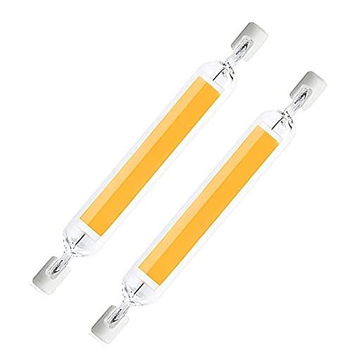 R7S LED 118mm, 20W lampadina led r7s 118mm Dimmerabile, Luce Calda 3000K, lampade led r7s 118mm, 1600LM, 2 Pezzi lampadine led r7s 118mm Sostituire Alogena 100W-150W