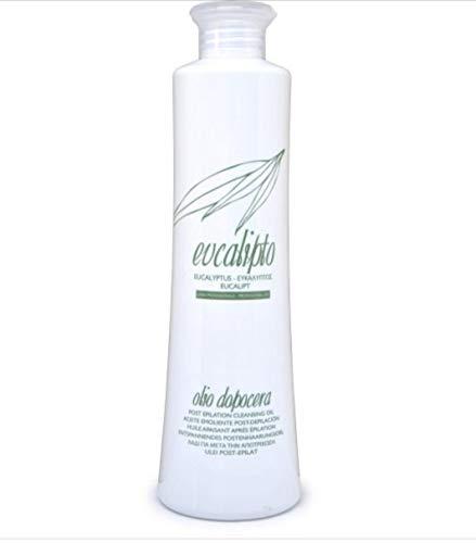 Huile nettoyante post épilatoire parfum Eucalyptus 500 ml, apaise, enlève les excès de cire, hydrate