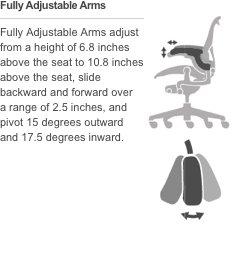 Herman Miller Aeron Ergonomic Chair - Size C, Carbon
