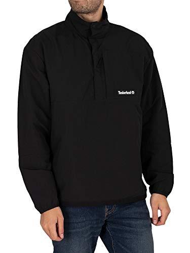 Timberland Chaqueta Anorak Packable para hombre, color negro - negro - L