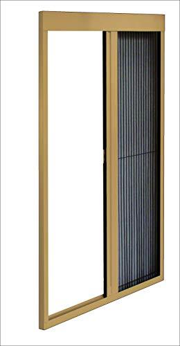Mosquitera lateral plisada de color bronce. Dimensiones: 124 x 152 cm.