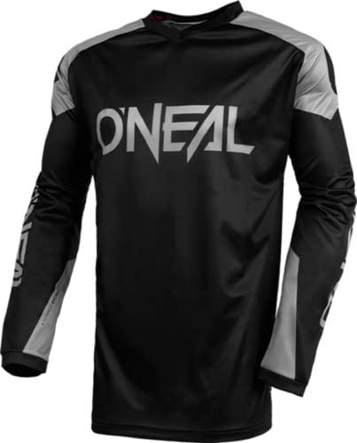 O\'NEAL   Jersey   Enduro Motocross   Atmungsaktives Material, Maximale Bewegungsfreiheit, Verlängerter Rücken   Jersey Matrix Ridewear   Erwachsene   Schwarz Grau   Größe S