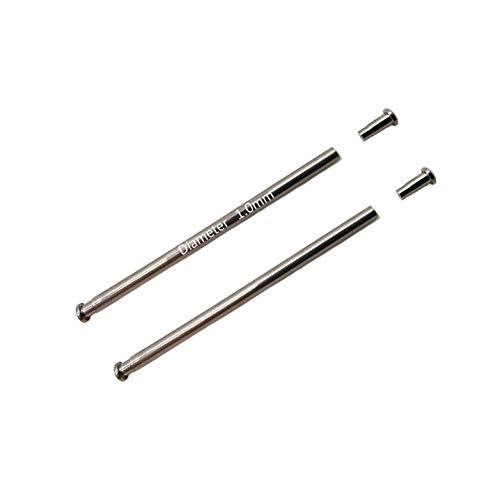 Masar 10mm | Ø 1,0 mm | Stifte mit Rohren | Armaturen - Armbanddruckstangen und Nietenden beobachten