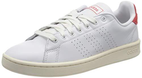 adidas Advantage, Zapatillas de Tenis Hombre, FTWBLA/FTWBLA/Rojint, 42 EU