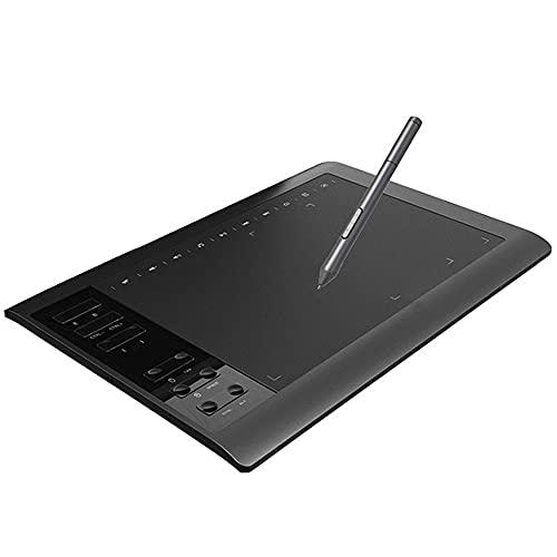 Cmstop Juego de Tableta de Dibujo Digital G10 sin Necesidad de Carga, Soporte de Mesa de lápiz para Sistema Windows/Android, teléfono, computadora portátil