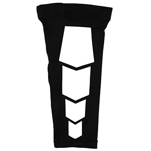 Greatangle Sports Leg Calf Leg Brace Support Stretch Sleeve Compression Exercizer Unisex Leg Wrapped Protector for Outdoor Sports Black XL