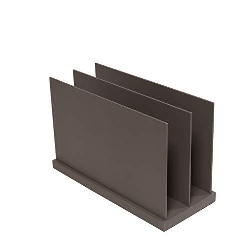 Portapapeles de Archivo de Revista, 2 Compartimentos Estante de Almacenamiento de clasificador de Libros de Escritorio de Oficina en casa de Madera, Documentos en Papel y Libros