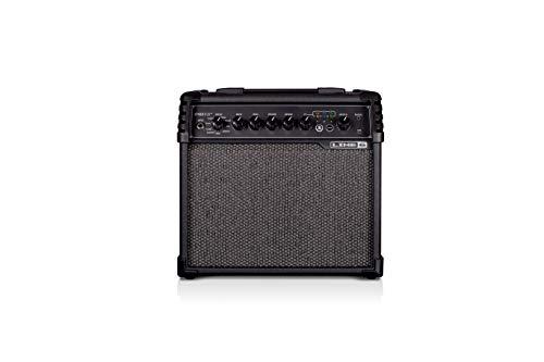 Line 6 Spider V 20 MkII Gitarrenverstärker schwarz – 20W-Verstärker mit 8 Zoll Lautsprecher, 16 Sound-Presets und 3 simultan nutzbaren Effekten