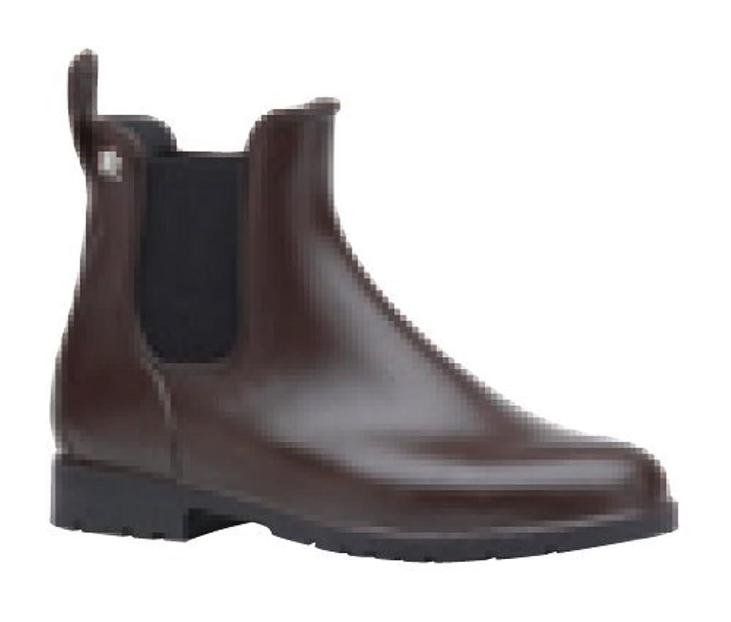 こどもの宮殿貢献する悪い[メデュース] サイドゴアレインブーツ ショートブーツ レインシューズ 長靴 UMO 完全防水 JUMPYMARRON/NOIR(ブラウン/ブラック) 39