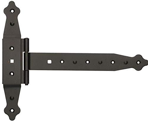 KOTARBAU® Kreuzgehänge 250mm Ladenband Scharnier Band Platte Baubeschlag Torbeschlag Holzverbindung Werfgehänge T-Scharnier T-Band Pulverbeschichtet