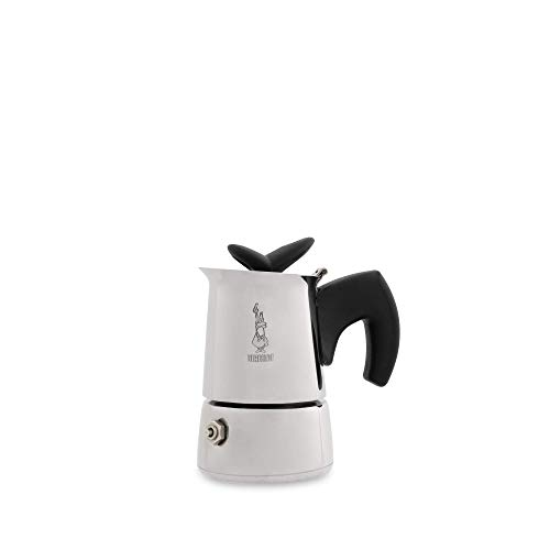 Bialetti Musa Restyling Caffettiera, 1 Cups, Acciaio Inossidabile, per fornello a gas, Argento