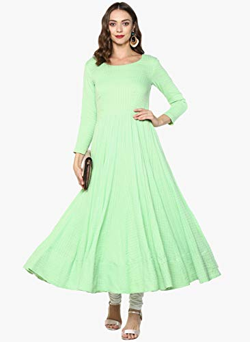 Indian Virasat Women's Cotton Regular Anarkali Kurta (Ivk5