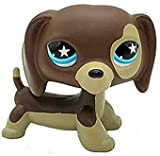 Mini Pet Shop, LPS Toy Hand Painted Custom OOAK LPSs Brown Dachshund Dog Puppy Figures Kid Gift
