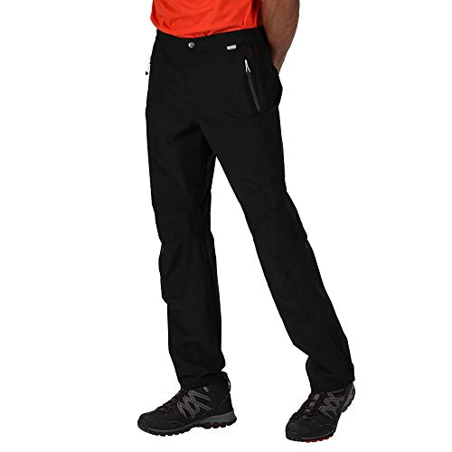 Regatta Surpantalon Protecteur Technique Stretch HIGHTON imperméable et Respirant-Court Overtrousers Homme, Black, FR (Taille Fabricant : XL)