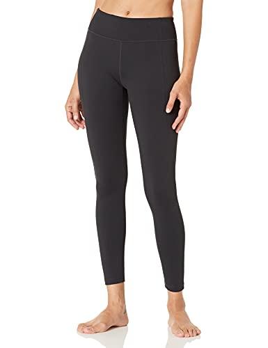 Amazon Brand - Core 10 Women's 'Build Your Own' Yoga Pant - Cross Waist Full-Length Legging, M (Short Inseam), Black