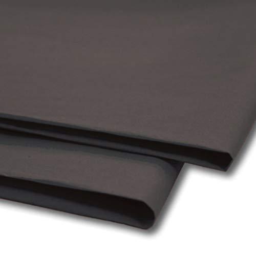 """Sabco Lot de 100feuilles de papier de soie, papier cadeau, sans acide et sans plomb, taille 50,8x76,2cm, pour emballage décoratif, esquisse et découpe de papier pour loisirs créatifs 20 x 30"""" Noir"""