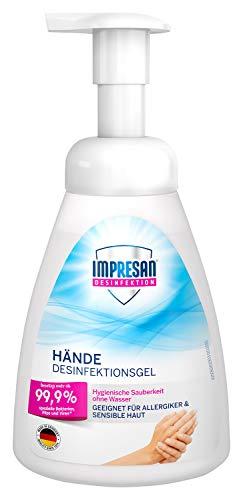 Impresan Desinfektionsmittel für Hände - Pumpflasche - 250 ml - Zuverlässiger Schutz