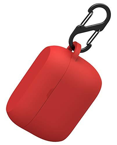 Naomo Funda Jabra Elite 65t/Jabra Elite Active 65t Silicona, Ligero Antipolvo Prueba de Golpes Silicona Fundas Protectora para Jabra Elite 65t (Rojo)