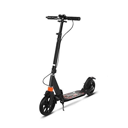 Patinete Scooter Niño 2 Ruedas Patinetes Plegable Ajustable Altura City Roller Freestyle para Niño y Niña de 3 a 14 Años Bebe Juguetes y Regalos, H012ZJ (Color : Black)