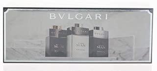 Bvlgari Travel Collection 3 Peice Mini Gift Set for Men, Black Edp Spray, Black Cologne Edt Spray, 3 Count