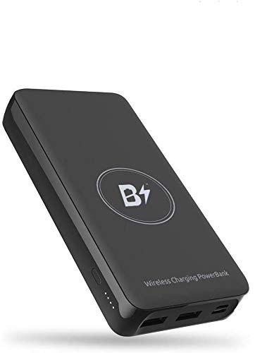 BETTERSHOP TM [Qi-Certified] Power Bank Wireless powerbank 20000MAH Fast Charge 18W Carica Ricarica 4 TELEFONI 2 Porte USB + 1 Micro USB, Compatibile con Apple iPhone 8 X XS Max XI e Samsung Galaxy