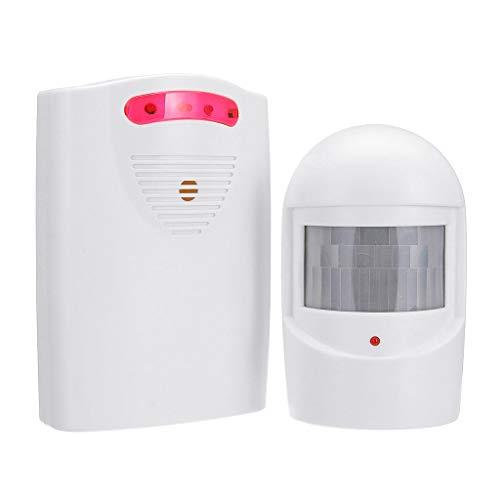 joyMerit Sistema Inalámbrico de Alarma de Seguridad para El Hogar, Kit de Alerta de Entrada con 1 Receptor Y 1 Detector de Sensor de Movimiento PIR para Patio