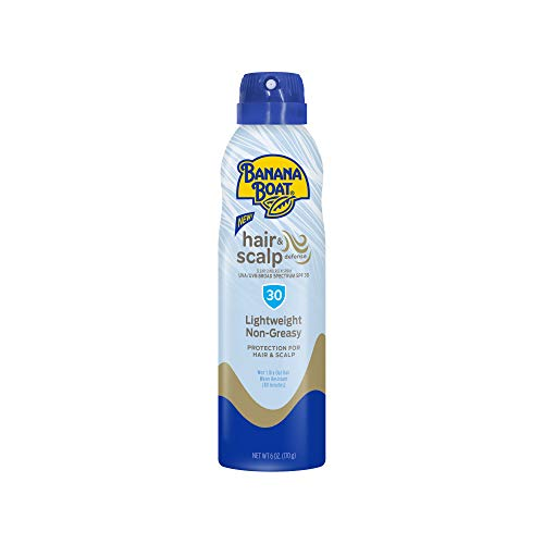 Banana Boat Hair & Scalp Defense Reef Friendly Sunscreen Spray, Broad Spectrum SPF 30, 6 Ounces