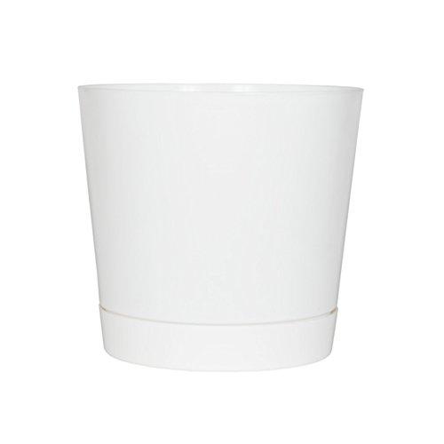 Full Depth Cylinder Pot, White, 10-Inch