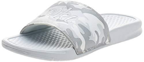 Nike Nike Benassi Jdi Textile Se Women'S - pure platinum/mtlc platinum-white, Größe:9