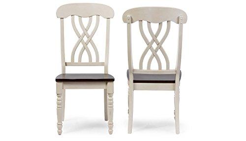 Aprodz Sheesham Wood Marceio Dining Chair Set for Home   Set of 2 Chair   Cream Finish
