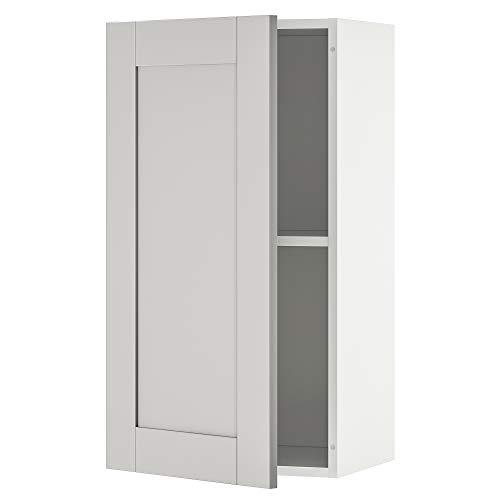 KNOXHULT armario de pared con puerta 40x31x75 cm gris