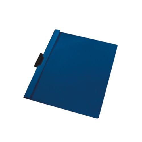 Herlitz 10312494 - Funda plástica con solapa transparente capacidad para 30 hojas de PVC color azul oscuro (Pack de 5)