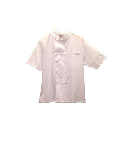 All White Chef Jacket (Short Sleeves) Size: Large