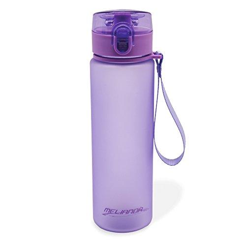 MELIANDA MA-7300 Trinkflasche Wasserflasche 550ml Nylon Handschlaufe violet