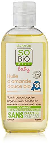 SO'BIO ÉTIC Huile d'Amande Douce Hypoallergénique Bio 100 ml