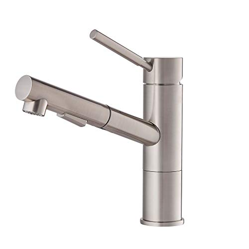 Kraus KPF-1750ST Axis Single Handle Pull Out Kitchen Faucet, Stainless Steel