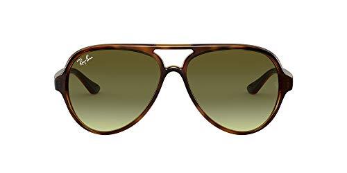 Ray-Ban Herren 4125 Sonnenbrille, Braun (Havana/Green Gradient Brown), 59